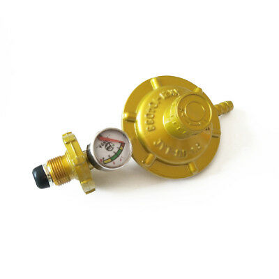 1pc Propane Gas Regulator With Manometer Level Gauge For Cooking Camping BBQ New