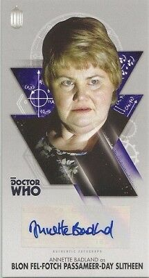 2016 Topps Doctor Who Tenth Dr Adventures Annette Badland Autograph Auto Card