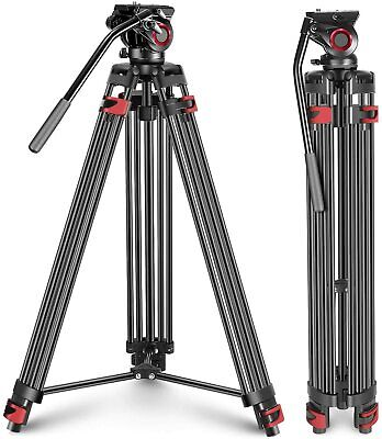 Neewer Professional Heavy Duty Video Camera Tripod 64 inches Aluminum Alloy
