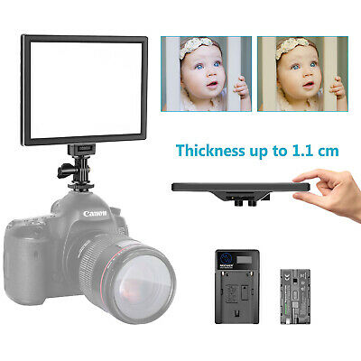 Neewer Bi-color Dimmable 120 LED Video Light Kit with Li-ion Battery and Charger
