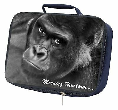 MH-AM2SC Gorilla with /'Morning Handsome/'.. Single Leather Photo Coaster Animal