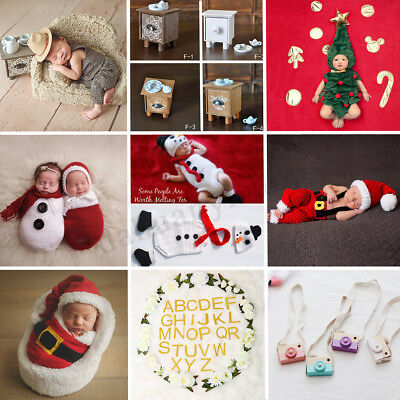 Newborn Baby Christmas Photography Photo Props - Sofa/Tea Table/Camera/Backdrop