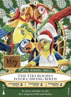 Sorcerers Magic Kingdom 2018 Christmas Party Card Enchanted Tiki Room Birds