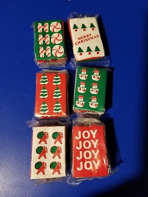 Vtg Craft Dollhouse Miniature Christmas Bags, 6pcs per package, Brand New
