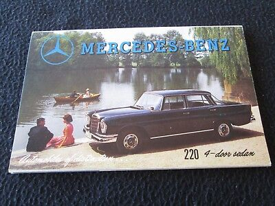 1961 Mercedes Benz Sales Catalog 190 190SL 220 S 300 Automatic 300SL SL Brochure