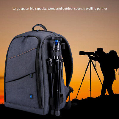 PULUZ Outdoor Backpack Portable Dual Shoulders Bag for DSLR Sports Camera Tripod