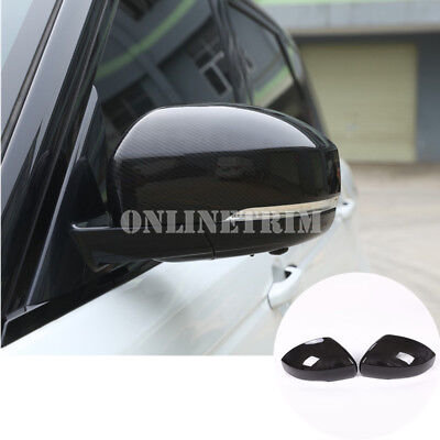 Carbon Fiber Style Rearview Mirror Cover For Land Rover Discovery 4 LR4 (14-16)
