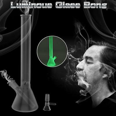 Luminous Hookah Water Glass Bong Smoking Pipe Glassware Shisha Tobacco Bottle