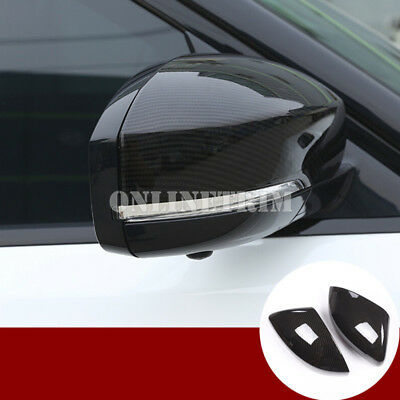 Carbon Fiber Style Rearview Mirror Cover For Land Rover Discovery 5 L462 (17-19)