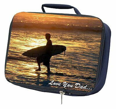 Surfing 'Love You Dad' Navy Insulated School Lunch Box Bag, DAD-154LBN