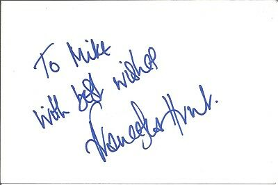 Francesca Hunt actress signed white card dedicated in person autograph Z2434