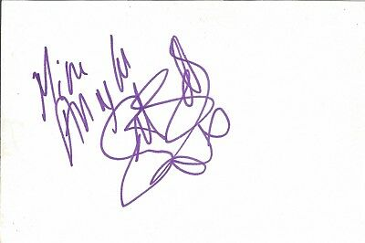 Scarlett Strallen actor signed white card dedicated in person autograph Z2117