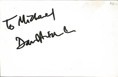 David Hitchen actor signed white card dedicated in person autograph Z2103