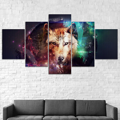 Fantasy Wolves Wolf Wild Animal Canvas Print Painting Framed Home Decor Wall Art