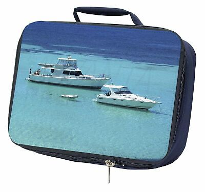 Yachts in Paradise Navy Insulated School Lunch Box Bag, BOA-5LBN