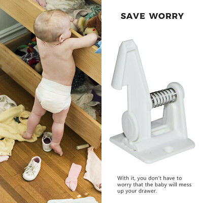 10pcs Easy Install Baby Children Invisible Safety Cabinet Drawer Spring Lock New