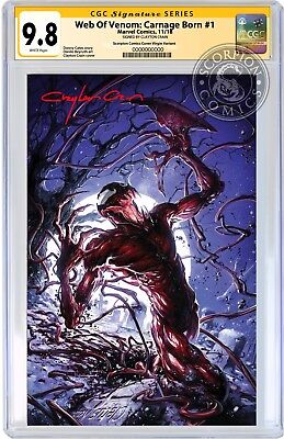 Web Of Venom Carnage Born 1 Virgin Variant Cgc 9.8 Ss Clayton Crain Presale Mint