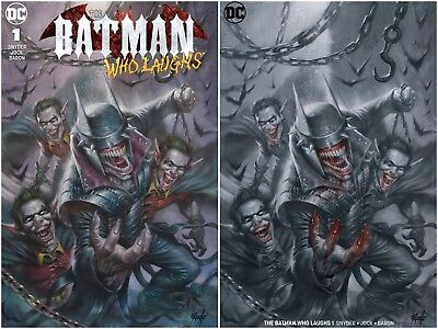 Batman Who Laughs 1 Lucio Parrillo B&w Blood + Color Variant Set Joker Hot Nm