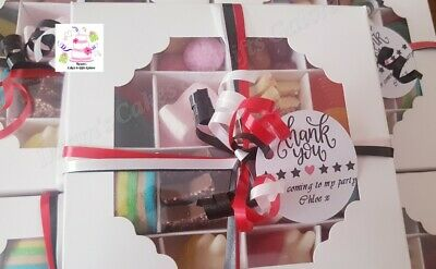 5 Personalised Halal Sweet Chocolate Box Prefilled Kids Party Bags Favors Gifts