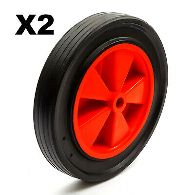 "2x 12 Inch Solid Tyre Industrial Trolley Dolly Cart Sack Drum Truck 8"" Wheel Rim"