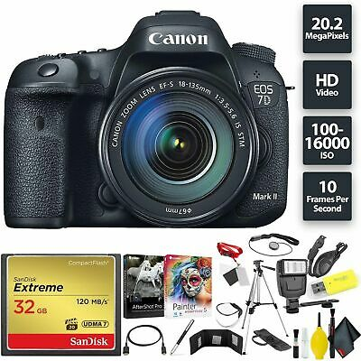 Canon EOS 7D Mark II DSLR Camera + 18-135mm f/3.5-5.6 STM Lens Bundle0218