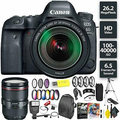 Canon EOS 6D Mark II DSLR Camera + 24-105mm f/3.5-5.6 Lens Bundle0178