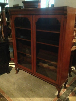 fine quality large antique gothic light golden oak victorian book case glazed