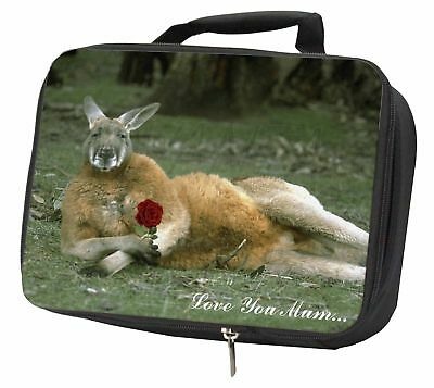 Kangaroo+Rose 'Love You Mum' Black Insulated School Lunch Box Bag, AK-1RlymLBB
