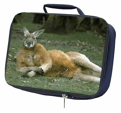 Cheeky Kangaroo Navy Insulated School Lunch Box Bag, AK-1LBN