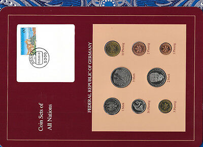 Coin sets of all nations Germany 1986-1989 UNC  5 Mark 1987 2 Mark 1989