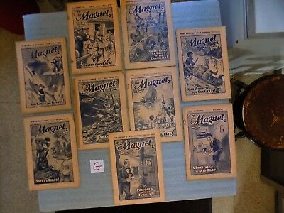 G - THE MAGNET - BOYS MAG / COMIC  - 1938 to 1939 - 9 RARE ISSUES - BILLY BUNTER
