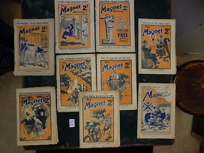 C- THE MAGNET - BOYS MAG / COMIC  - 1925 to 1929 - 9 RARE ISSUES - BILLY BUNTER