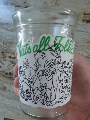 Vintage 1994 Welchs Looney Tunes Collector Series 12 Jelly Glass Thats All Folks