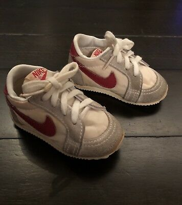 640e6044d64e VINTAGE NIKE Baby Toddler Shoes 80s Red And White Size 2 Infant ...