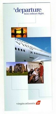 Virgin Atlantic A Departure From Ordinary Flight Brochure