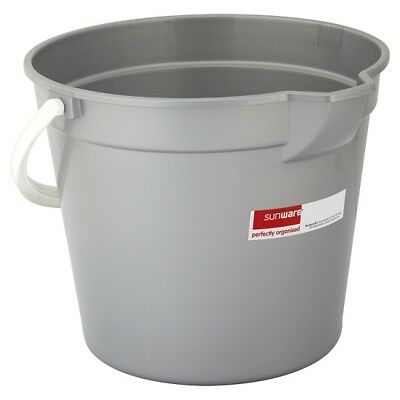 Sunware Perfectly Organised Bucket Silver 12 Litre   | 10 x Sgl