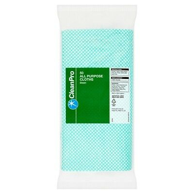 CleanPro 50 All Purpose Cloths Green   | 15 x 50pk