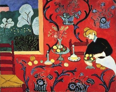 HARMONY IN RED THE DESSERT by Henri Matisse - Matt, Glossy, Canvas Paper A4/A3