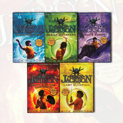 Percy Jackson and the Olympians Collection Rick Riordan 5 Books Box Set Pack