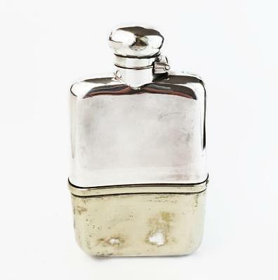 Antique SILVER PLATED HIP FLASK c1920