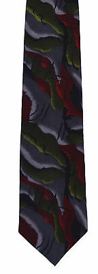 Men's New Neck Tie, Short, Gray Red Green Tequila design by Cocktail Collection