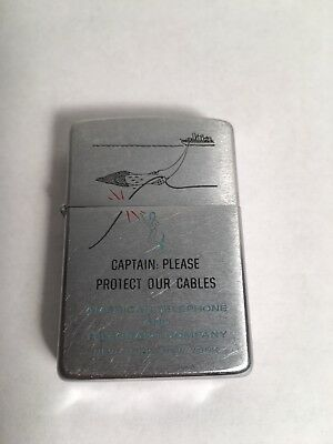Zippo AT&T Captains Lighter American Telephone Telegraph Company Advertising