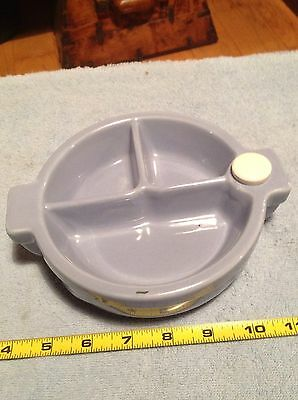 Vintage Baby Childs Divided Child Dish Great Blue Color Nice Collectible Decor