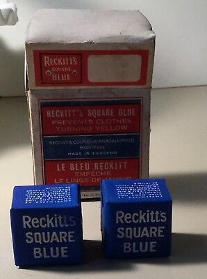 Vintage Original  Store Package Reckitts Blue