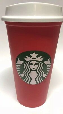 Starbucks 2018 Red Reusable 16oz Traveler Drinking Cup with drink discount