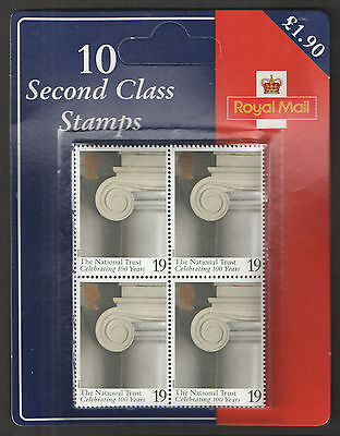 SG1868 National Trust 1995 10 x 19p Retail Pack