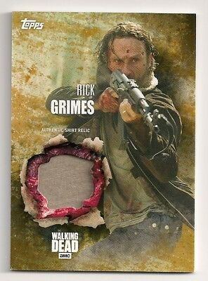 2016 Topps The Walking Dead Season 5 Rick Grimes Shirt Relic #/99 Andrew Lincoln