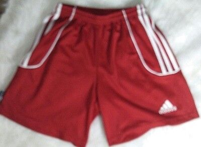Adidas Youth Red Athletic Shorts Size XL