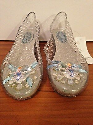 Disney Princess Cinderella Costume Light Up Dress Shoes Girls Sz 11-12 NEW/tags