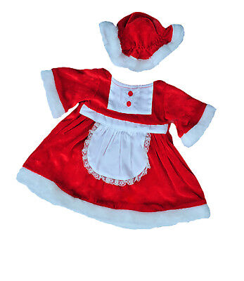 "Mrs. Claus Outfit Teddy Bear Clothes Outfit Fits Most 14"" - 18"" Build-a-bear, Ve"